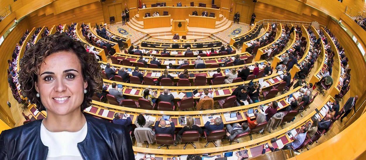 La agenda oficial del Ministerio señala que Dolors Montserrat acudirá este martes al Senado.