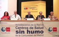 Acto de entrega de las acreditaciones de la Red de Centros Sin Humo