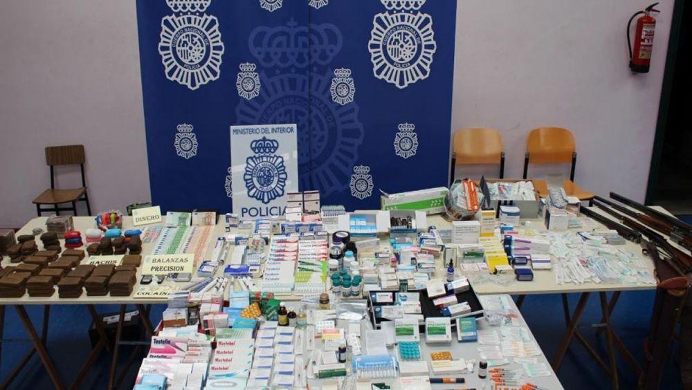 Medicamentos decomisados por la Policía Nacional