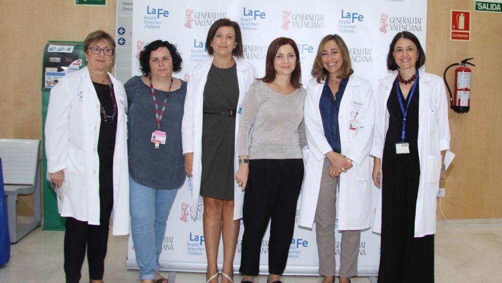 Asistentes a la jornada en el Hospital Universitario y Politécnico La Fe (Valencia)