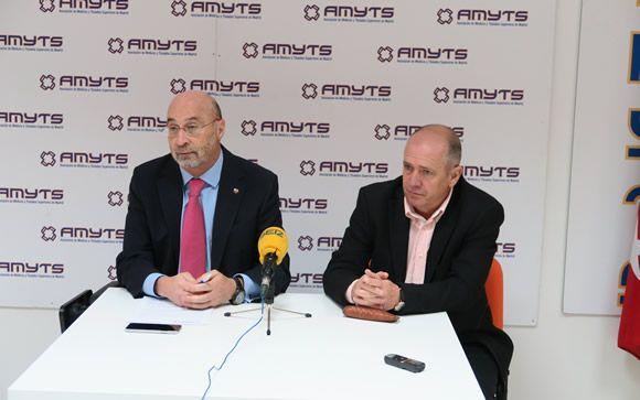 Julián Ezquerra, secretario general de AMYTS (izquierda) y Gabriel del Pozo, vicesecretario general de AMYTS (derecha).