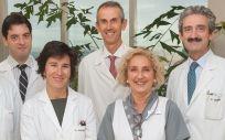 Equipo investigador que lidera este estudio pionero en Europa contra los tumores de hígado primarios.