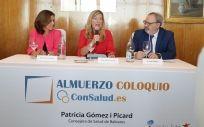 De izq. a drcha.: Concha Caudevilla, Patricia Gómez y Juan Blanco.