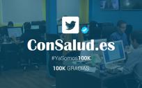 Twitter de ConSalud.es con 100.000 seguidores