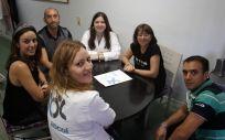 Parte del equipo de la Asociación contra la Leucemia y las Enfermedades de la Sangre