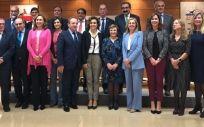 Los consejero de Sanidad y la ministra de Sanidad, durante el Consejo Interterritorial.