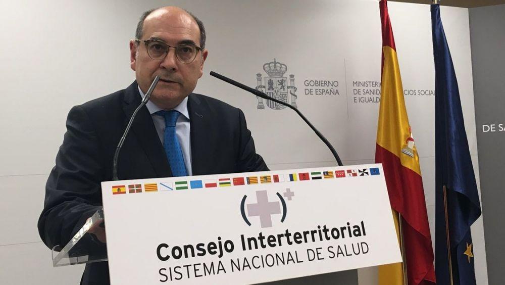 Jon Darpón, consejero de Sanidad del País Vasco, durante el Consejo Interterritorial.