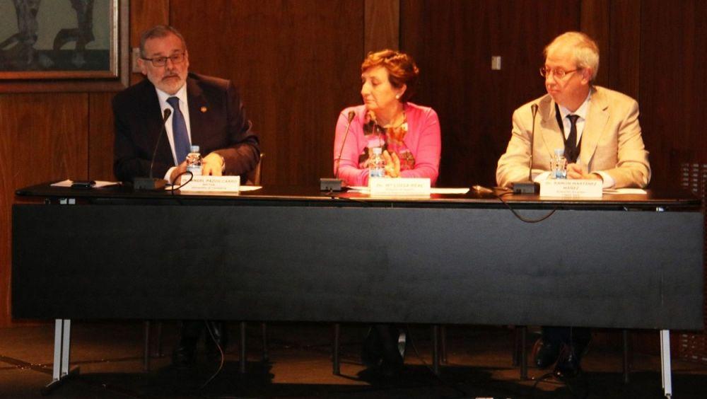 De izq. a dcha.: Ángel Pazos, María Luisa Real y Ramón Martínez