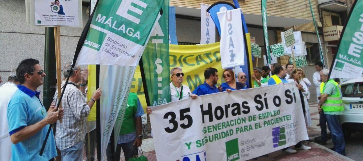 Los sanitarios continúan movilizándose contra la aplicación de la suspensión cautelar de las 35 horas