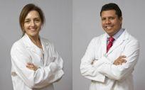 Los doctores Elena Marín y Andrés Salazar