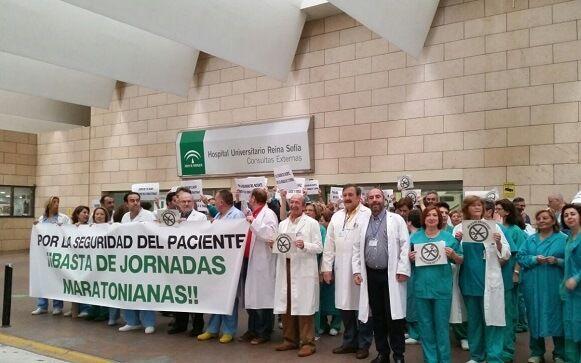 Manifestación de profesionales sanitarios contra la jornada de 37,5 horas.