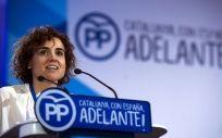 Dolors Montserrat, interviniendo en un acto del PP de Cataluña.