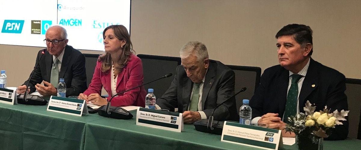 La consejera de Salud andaluza en la II edición del ciclo de conferencias 'La calidad del Sistema Nacional de Salud' organizada por PSN