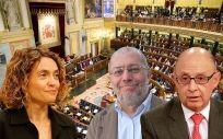 Meritxell Batet. diputada del PSOE, Francisco Igea, portavoz de Sanidad de Ciudadanos y Cristóbal Montoro, ministro de Hacienda.