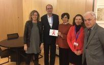 Reunión del PSOE con responsables del Fondo Mundial contra el Sida, la Malaria y la tuberculosis