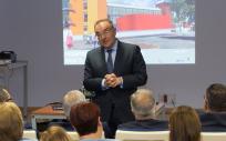 José Manuel Baltar, el consejero de Sanidad del Gobierno de Canarias, ha explicado el proyecto de ampliación del Hospital General de Fuerteventura.
