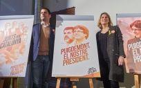 Momento de la presentación de la imagen gráfica de Junts per Catalunya para el 21-D.