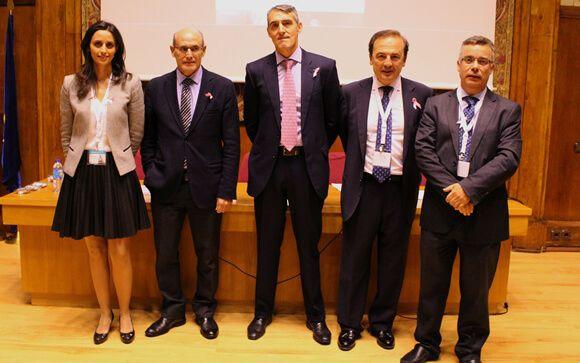 De izq. a drcha.: Marta del Olmo, Rafael Bengoa, Juan Antonio Álvaro de la Parra, Javier Dodero y Ángel Blanco
