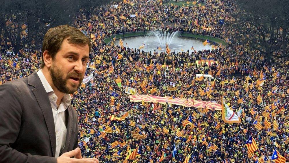 """Antoni Comín, exconsejero de Salud de Cataluña, ha preferido exigir desde Bruselas la """"libertad de los presos políticos""""."""
