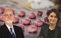 Jaime Giner, presidente del MICOF, y Carmen Montón, consejera de Sanidad de la Comunidad Valenciana.