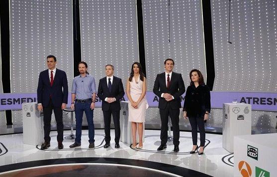 Imagen de uno de los debates electorales con los principales candidatos a la presidencia.