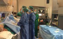 Equipo médico de la Unidad de Arritmias del Complejo Hospitalario de Cartagena
