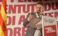 Xavier Domènech, cabeza de lista de Catalunya En Comú-Podem para las elecciones del 21 de diciembre.