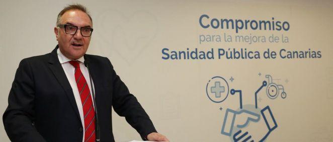 El consejero de Sanidad de Canarias, José Manuel Baltar