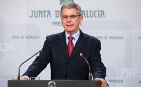 Juan Carlos Blanco, portavoz de la Junta de Andalucía.