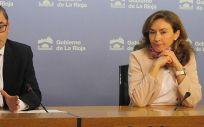 José Miguel Acitores y María Martín, durante la presentación del Plan de Salud 2018