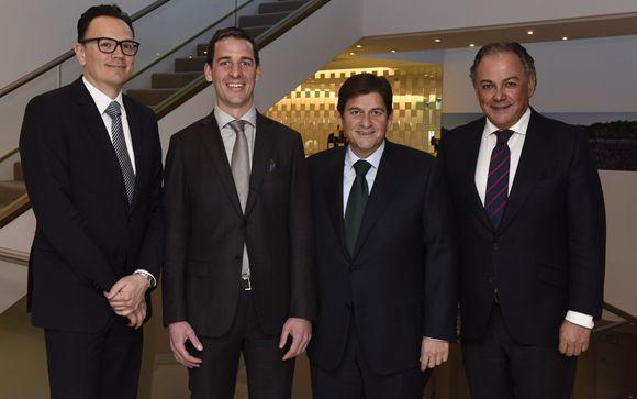 De izq. a drcha.: Adrian van den Hoven, Christoph Stoller, Raúl Díaz-Varela y Ángel Luis Rodríguez de la Cuerda