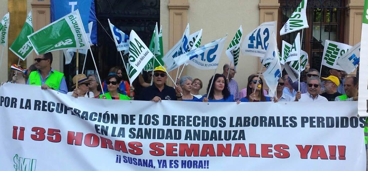 Movilización sindical para la recuperación de la jornada laboral de 35 horas.