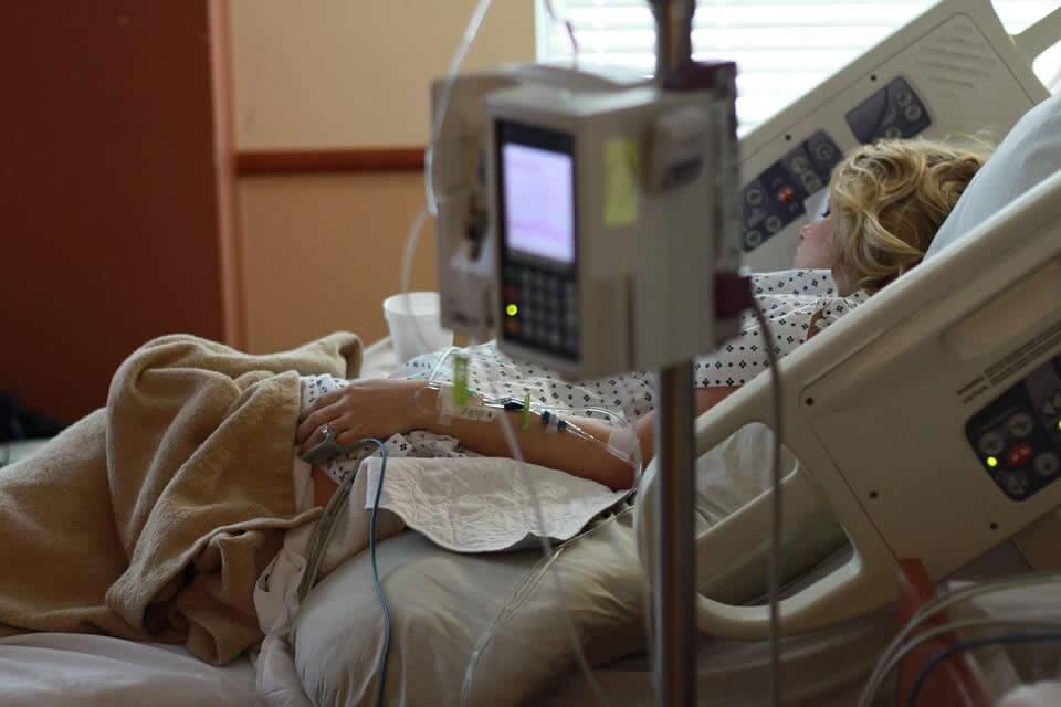 Imagen de un paciente hospitalario.