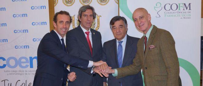 Acuerdo pionero entre colegios profesionales de dentistas, farmacéuticos, médicos y fisioterapeutas de la Comunidad de Madrid