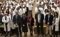 La consejera de Salud de Andalucía, Marina Álvarez, en el centro de la imagen