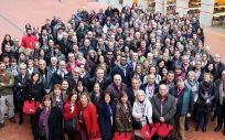 Imagen de grupo de la asamblea celebrada por Metges de Catalunya.