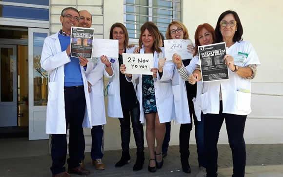 """Huelva se moviliza """"por una sanidad digna"""" y contra la fusión hospitalaria"""