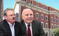 Manuel Ángel Moreno y Francisco Agulló, directores gerentes del Servicio Murciano de Salud (SMS) durante 2015.