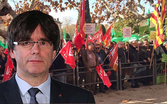 """Los sanitarios catalanes se plantan ante Puigdemont: """"Queremos recuperar los derechos perdidos"""""""