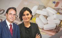 Vicent Soler y Carmen Montón, consejeros de Hacienda y Sanidad de la Comunidad Valenciana.