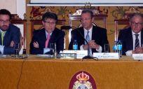 De izq. a dcha.: Joaquín Rodrigo, Humberto Arnés, Mario Mingo y Ángel Luis Rodríguez de la Cuerda.