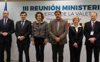 La ministra de Sanidad, Dolors Montserrat, en el centro de la imagen presidiendo la reunión de la Declaración de La Valeta.