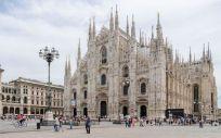 Imagen de la Piazza del Duomo, en Milán.