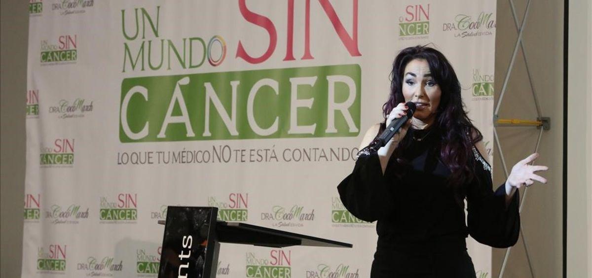 Cocó March, directora del congreso 'Un mundo sin cáncer' sancionado por Sanidad
