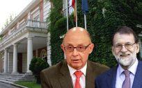 Cristóbal Montoro, ministro de Hacienda, y Mariano Rajoy, presidente del Gobierno.