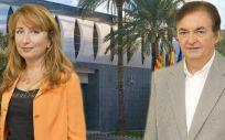 Mercedes Hurtado, presidenta del Colegio Oficial de Médicos de Valencia y uno de sus consejeros, Rafael Torres