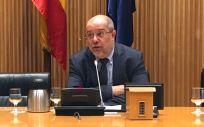 Francisco Igea, portavoz de Sanidad de Ciudadanos, durante la Mesa Sectorial celebrada en el Congreso.