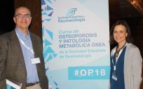 El doctor Antonio Naranjo y doctora Pilar Aguado, dos de los coordinadores del Curso de Osteoporosis y Patología Metabólica Ósea de la SER