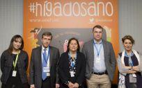 A la presentación de la campaña ha acudido la presidenta de la Asociación Española para el Estudio del Hígado, María Buti