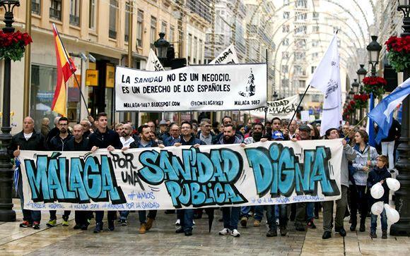 Málaga se sumará al 15-E contra los recortes sanitarios de la Junta de Andalucía